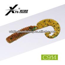 40mm 0.5g,50mm 1.2g,75mm 3.7g Soft Plastic Fishing Worm Molds