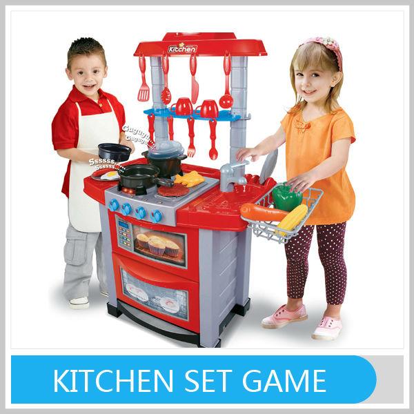 2014 yeni oyun oynamak mutfak malzemesi seti ile çocuklar için tüm sertifikaları