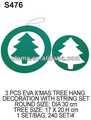 Para embarcaciones de chico( s476) 3pc eva de árbol de navidad decoración de la caída con una cuerda conjunto