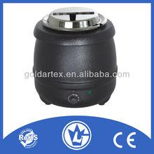 10L Black Soup Kettle, Stainless Steel Soup Pot with CE CB LFGB
