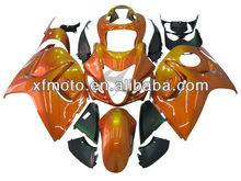 For SUZUKI GSX-R1300 HAYABUSA 2008 2009 2010 2011 Orange Black Motorcycle Fairing Body Work
