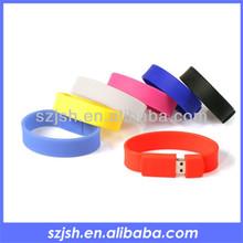 2015 top sale wristband usb disk,bracelet usb 2.0 for promotion