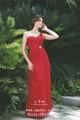 une épaule de mode design rouge abaya robe de soirée pour de belles robes en mousseline de soie pour les jeunes filles