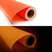 Self-adhesive glow in the dark orange vinyl foil