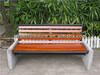 Metal and wooden bench seats wood park bench