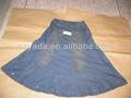 verano 2014 elegante señora jean faldas largas