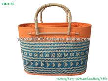 Fashion weaving bamboo handmade bag