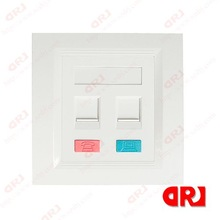 86*86 type double ports rj45 faceplate
