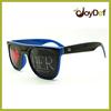 Two Tone Fun Party Custom Logo Lens Pinhole Sunglasses Wayfarer Wholesale UV400 Protection