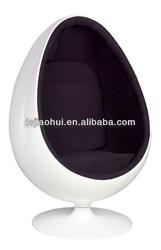 modern fiberglass egg pod chair