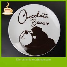 ceramic plate wholesale / cheap white dinner set for restaurant / ceramic tray