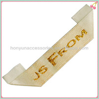 high quality woven label made in china /garment accessory