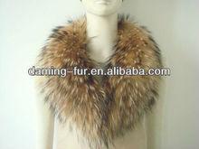 women's Raccoon fur collar scarf shawl wrap neck warmer