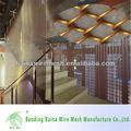 moda decoração da parede de cortina de malha metálica