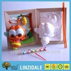 2014 new eco-friendly educational toy DIY 3D colorful plaster bsuy bee and wooden frame