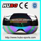 Newest fashion anti fog REVO interchangeable lens custom strap snow goggles