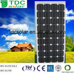 stock cheap price 100w Monocrystalline Solar Panel,pv module