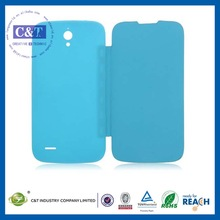 C&T Colorful simple design leather case for huawei ascend p6
