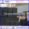 tubos de hierro negro de carbono rectangular de tubos de acero