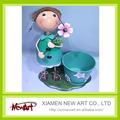 Cubo para mujer barato de la flor maceta maceta de metal decoración de jardín vestidos