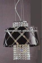 Glass material black/white color light pendant lamp chandelier modern led HT-AF0187