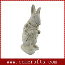 Alice in Wonderland White Rabbit Garden Statue White