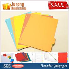 Jurong Manufacturing file folder pocket dividers,Assorted colors