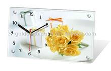 Promotion gift antique wooden desk clock