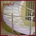 Edelstahl gekrümmte handrails| gekrümmte treppe handrail| draht seil handlauf
