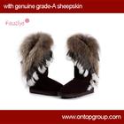 Fawziya Fashion Women Fox Fur Boots
