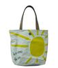 (XHF-SHOPPING-214) fashion canvas shopping bag with pu handle