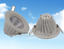 15w aluminum die cast LED COB downlight lamp cover and shade