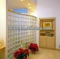 Bloques coloreados decorativos y de vidrio transparente/Ladrillo con precio bueno& calidad alta