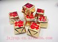 Oscuro dulce de chocolate de oro y lingotes con la bendición de las marcas de fabricación china/de chocolate delicioso snack