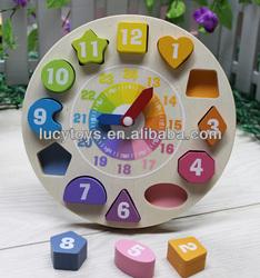 wooden toys clock