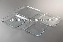 1.8l de borosilicato de alta placa de hornear, molde para hornear cuadrado, utensilios para hornear de vidrio