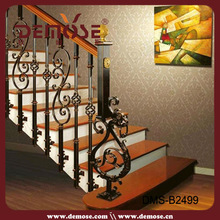wood and iron stairs railing