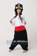 OEM service/new models fleece cartoon cheap adult pirate onesie/fleece funny girls costume