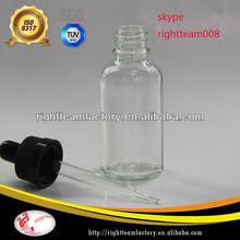 glass bottle child safty cap 1oz dropper bottle childproof cap sharp tube