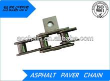 Double straight link asphalt paver conveyor chain