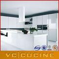 yüksek parlak beyaz standart modern mutfak dolapları