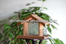 New Garden Hanging Decorative Wooden Bird Feeder, Small Bird Nest