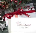 custom white christmas presente 3d cartão