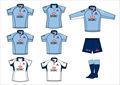 Baratos de fútbol jersey y pantalones cortos/del diseñador de fútbol uniforme con el servicio del oem