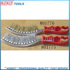 Moon type plastic handle scratch steel wire brush