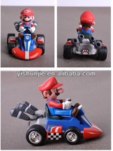 the newest Anime Super Mario Bros kart Spring back cars plastic action figures