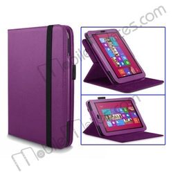 PU Leather Cover Stand Folio Case For Microsoft Surface RT Lichee Pattern Case With Belt