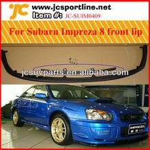 Black primer PU front bumper lip for Subaru Impreza/WRX 8th front spoiler lip Fits the standard bumper