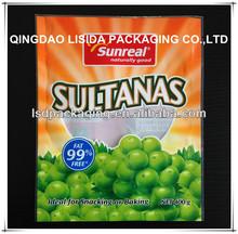 colorful printing custom made plastic snack food bag