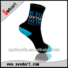 New 100% cotton ankle socks black men custom mid calf socks